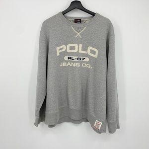 Vintage 1990's Polo Jeans Co. Logo Sweatshirt size Large RL-67